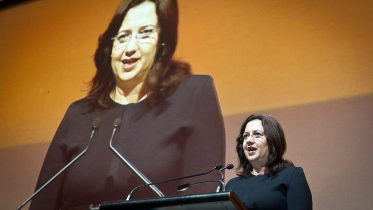 Annastacia Palaszczuk addresses the summit.