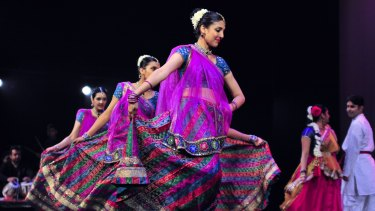 Swirl of colour: Beautiful costumes were a highlight of the show.