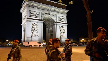 Paris is on high alert following last week's attack on the Champs-Elysees, with security increased.