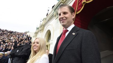 Eric Trump, right, said the Syria strike disproved allegations of collusion with Russia.