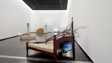 George Egerton-Warburton's bed at ACCA as part of NEW15.