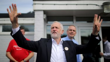 Labour leader Jeremy Corbyn greeting supporters on the final week of the election campaign.