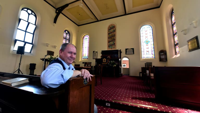 Minister Steve North, pictured in 2014, refused to officiate the wedding and banned the couple from getting married at his church.