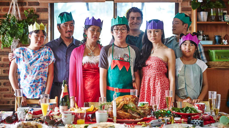 The cast of Benjamin Law's upcoming SBS sitcom, <i>The Family Law</i>.