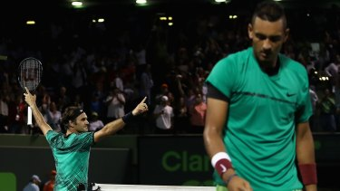 The former coach of Nick Kyrgios has ranked his epic Miami Open semi-final battle against Roger Federer as the greatest non-grand slam match ever played.