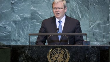 Better to back Kevin Rudd to lead the United Nations than risk damaging our national reputation by shunning him.