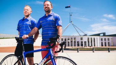 Ray and Peter Chamberlain will ride from Canberra to Melbourne to raise money for Griefline.