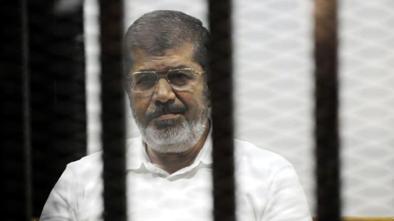 Sentence overturned: Egypt's ousted president Mohamed Mursi.