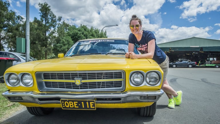 Nadine Clifford of the Central Coast finished restoring her car at 2am to drive to Canberra.