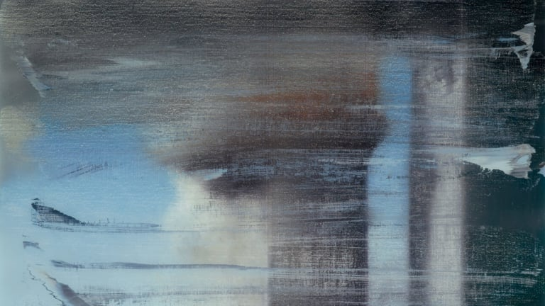September, 2009, print between glass (detail), is Gerhard Richter's response to 9/11.