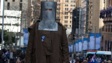 Arrests were made at a Reclaim Australia rally at Sydney's Martin Place on Sunday.