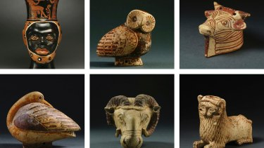 Several artifacts seized from the home of Michael Steinhardt, as part of an effort by the New York district attorney to return stolen antiquities to their countries of origin.