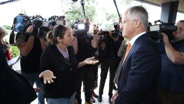 Melinda talks with Mr Turnbull.
