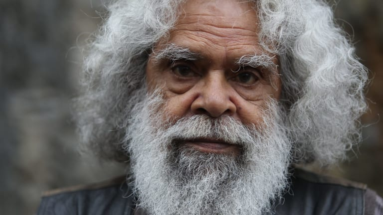 Jack Charles reprises his role in Coranderrk for a performance at the site of the former Coranderrk Aboriginal Station in February.