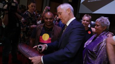 Mr Turnbull at the Redfern Statement breakfast.