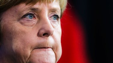 German Chancellor Angela Merkel has not made clear whether the government will bail out Germany's biggest bank.