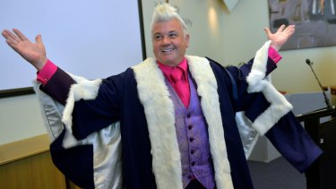 Darryn Lyons, when he was announced as the popularly-elected Geelong mayor in 2013.
