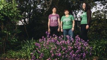 Living Green festival organisers Tara Ward, Tracey Lofthouse and Jess Ferry.