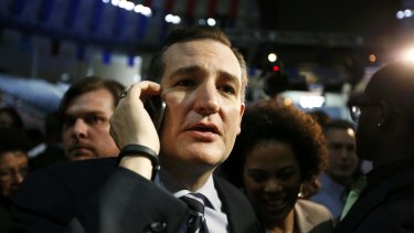 US Senator Ted Cruz after he announced his candidacy for president during an event at Liberty College.