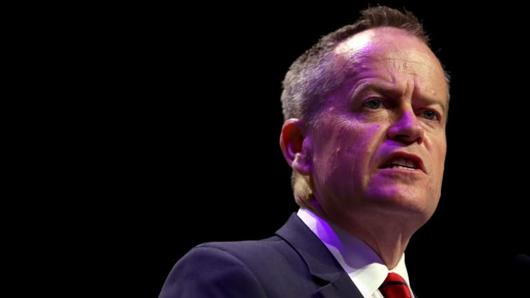 Opposition leader Bill Shorten this week: a step forward, but only a small one.
