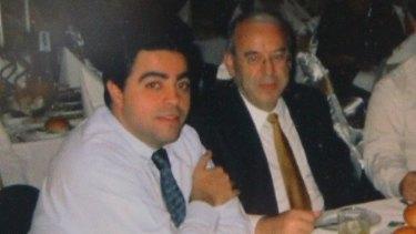 Former Labor minister and power broker Joe Tripodi with Eddie Obeid.