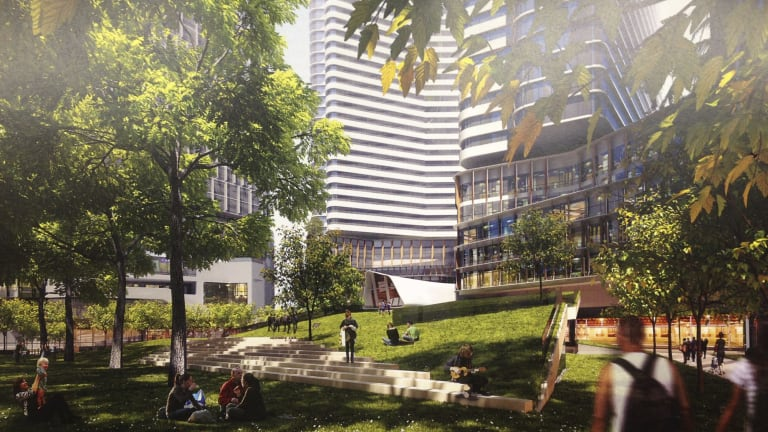 An artis'ts impression of 93-119 Kavanagh Street in Southbank, part of a billion-dollar project from listed Malaysian group PD Development Holdings.