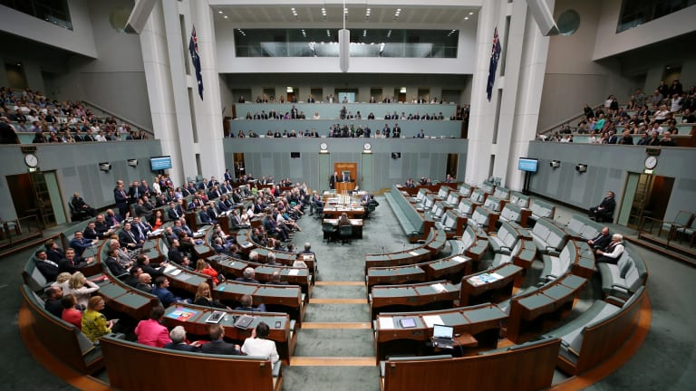 The House of Representatives as it votes for same-sex marriage on Thursday.