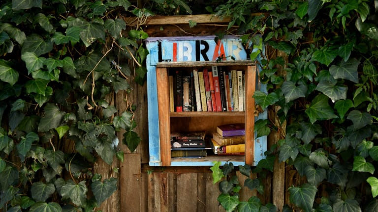 A street library in Newtown.