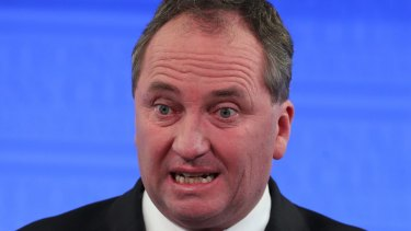 Agriculture Minister Barnaby Joyce at the National Press Club earlier this month.