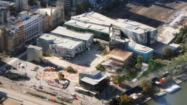 How Federation Square might look from the air.
