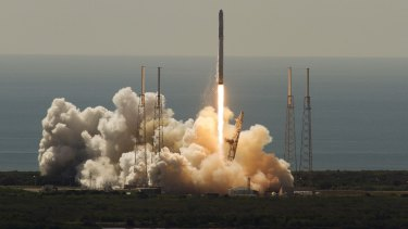 SpaceX's  Falcon 9 rocket launches from Cape Canaveral on Sunday.
