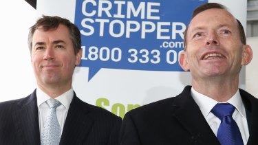 Justice Minister Michael Keenan and Prime Minister Tony Abbott.