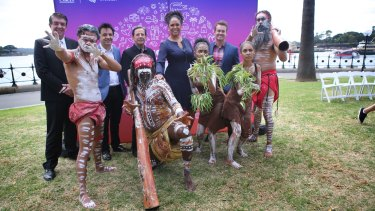Australia Day entertainers at a media call in Sydney prior to the January 26th celebrations.