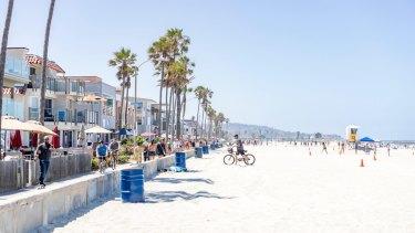 Blue sky ahead … Mission Beach, San Diego.