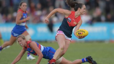 """AFLW star Daisy Pearce said she noticed an """"unprecedented physicality and intensity, almost at the expense of regard for personal safety"""" in the early rounds of competition."""