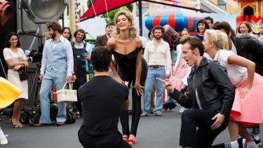Delta Goodrem as Olivia Newton-John in the miniseries <i>Hopeless Devoted to You</i>, coming to Seven in 2018.