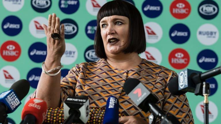 Big shoes: New Rugby Australia CEO Raelene Castle.