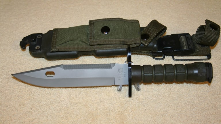 One of the M-9 bayonet knives for sale at Bankstown Gun Shop.