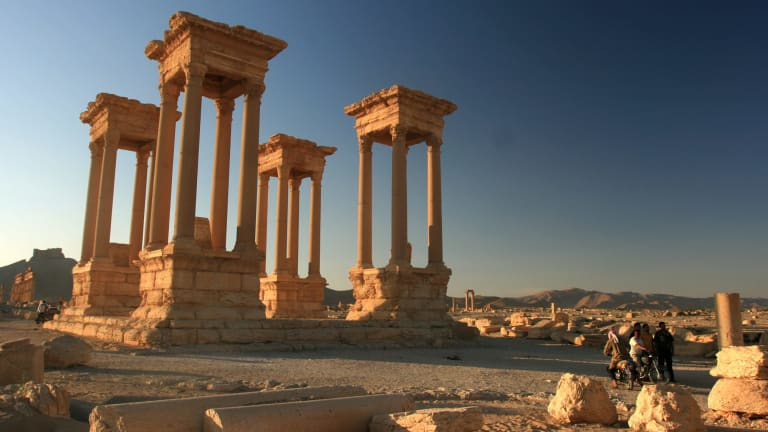 The ruins of ancient Palmyra, Syria, which Islamic State apparently intends to demolish.