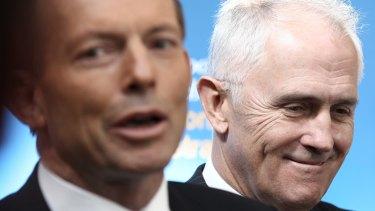 Tony Abbott and Malcolm Turnbull.