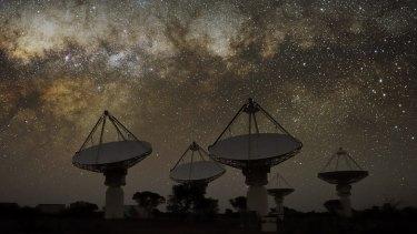 The Australian Square Kilometre Array Pathfinder radio telescope in Western Australia.