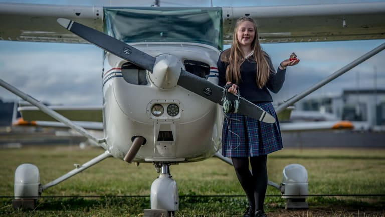 Year 10 Merici College student Jade Esler has funded her flying lessons through cupcake sales.
