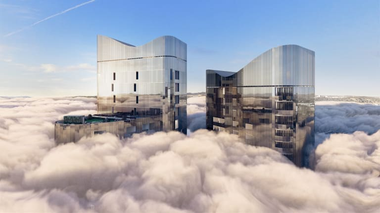 An artist's impression of Geocon's High Society, Canberra's tallest building.