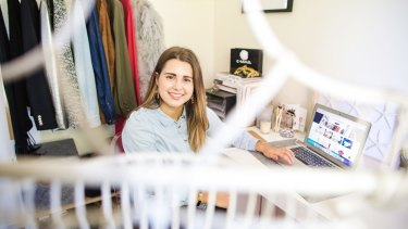 Jemma Mrdak works from home a few days a week, which gives her the opportunity to also work on a fashion and lifestyle blog in her down time.