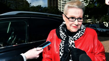 Bronwyn Bishop attends a memorial service at the Sydney War Memorial on Sunday to commemorate the Battle of Fromelles.