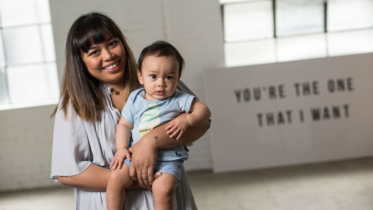 Marie de Vera, who started The Style Co, with her son Harrison.