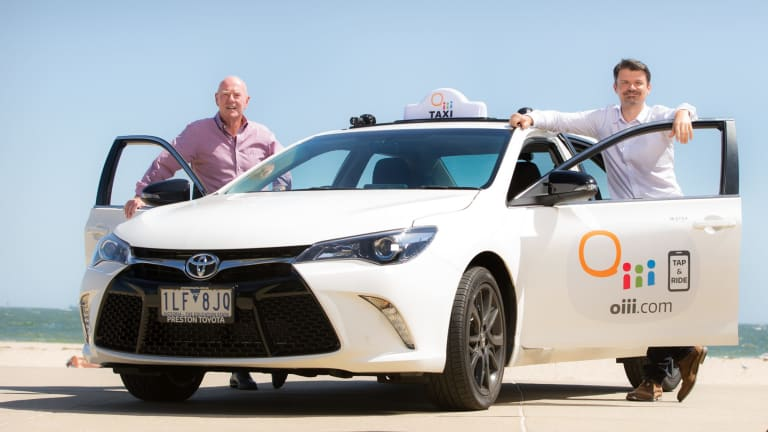 Oiii founder Dennis Jeffees  and  chief executive Roland Grelewicz. The company says it offers an alternative to taxis and ride shares.