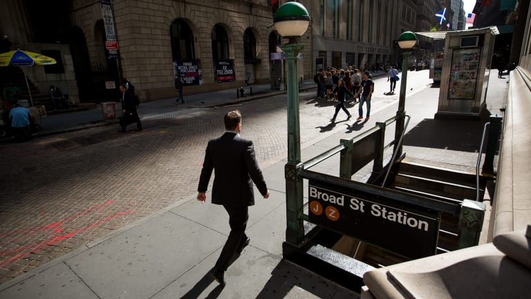 Could another GFC happen? A pedestrian walks along Wall Street near the New York Stock Exchange.