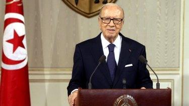 Tunisian President Beji Caid Essebsi earlier this week.