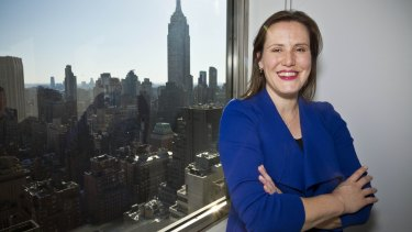 Minister Kelly O'Dwyer pictured at the Austrade office in New York City.